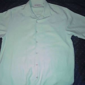 TOMMY BAHAMA LIME GREEN XL SILK SHIRT